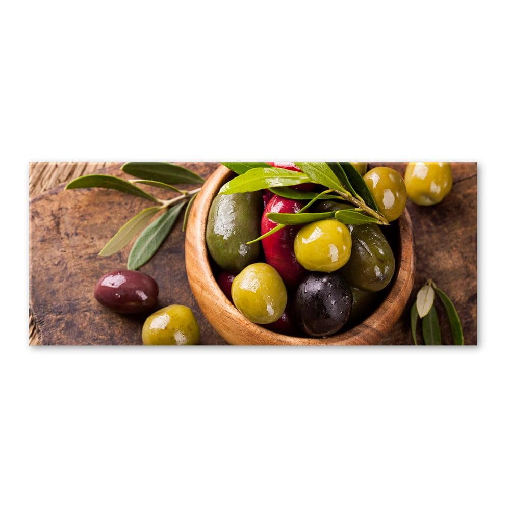 Obraz Styler Glasspik Kitchen Olives I, 30 × 80 cm