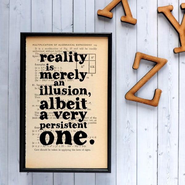Plagát v drevenom ráme Einstein Reality