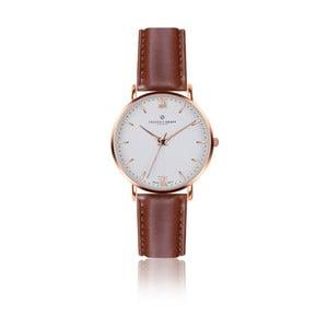Pánske hodinky s koňakovohnedým remienkom z pravej kože Frederic Graff Rose Dent Blanche Cognac Leather