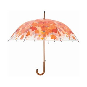 Transparentný tyčový dáždnik Ambiance Birdcage Fall Leaves, ⌀93 cm