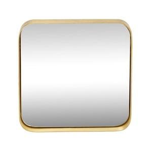 Zrkadlo v ráme s mosadznou farbou Hübsch Tovi, 31 x 31 cZ