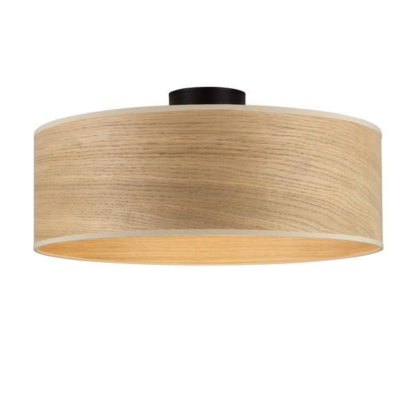 Stropné svietidlo s tienidlom z dreva dubu Sotto Luce TSURI XL
