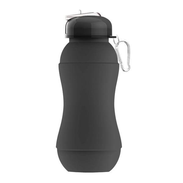 Športová fľaša Sili-Squeeze, čierna, 700 ml