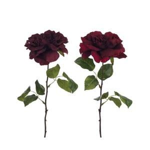 Sada dvoch kusov umelých ruží s lístkami