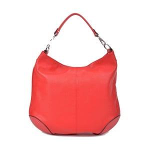 Červená kožená kabelka Roberta M Pessio