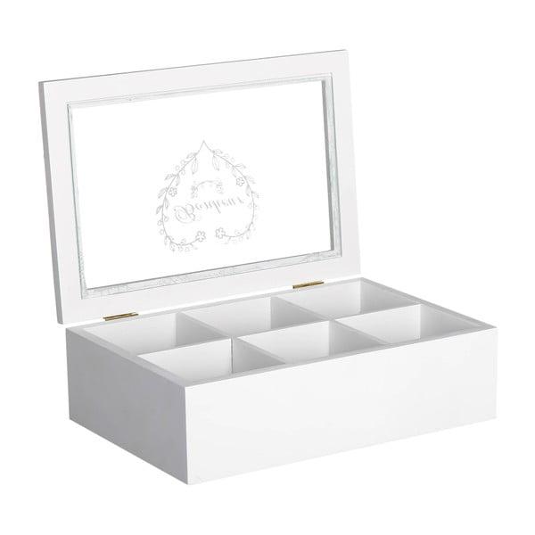 Krabička na čaj / šperkovnica White Box, 24x16 cm