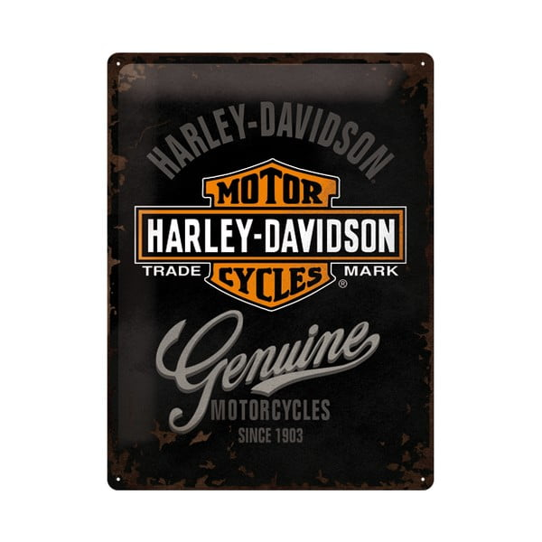 Plechová ceduľa Harley Motorcycles, 30x40 cm