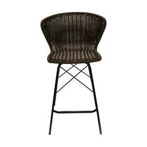 Set 2 barových stoličiek zo syntetického ratanu RGE Kummin