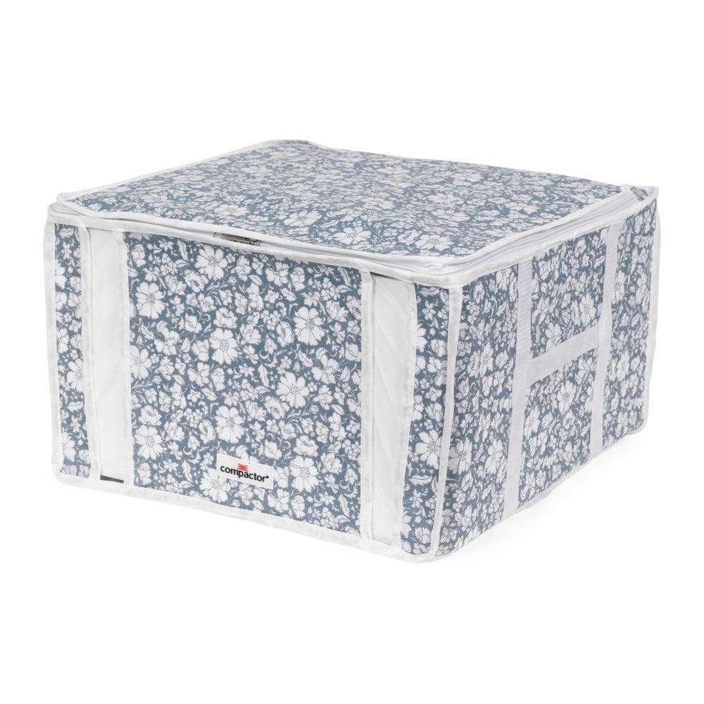 Modrý vakuový úložný box na oblečenie Compactor Signature Vicky 3D Vacuum Bag, 125 l