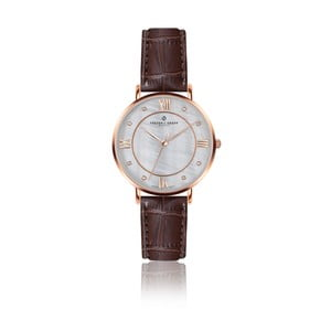 Dámske hodinky s hnedým remienkom z pravej kože Frederic Graff Rose Liskamm Croco Brown Leather