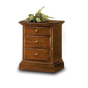 Drevený nočný stolík s 3 zásuvkami Castagnetti Mare
