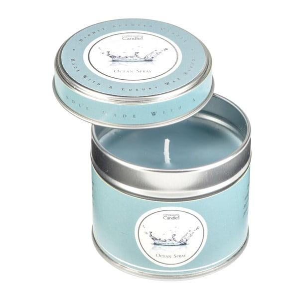 Aróma sviečka v plechovke s vôňou oceánu Copenhagen Candles, doba horenia 32 hodín
