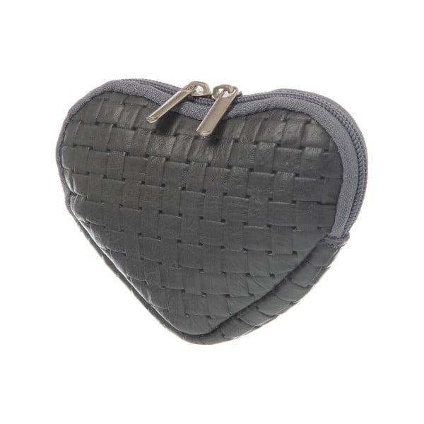 Semišová kapsička na mince Heart Grey