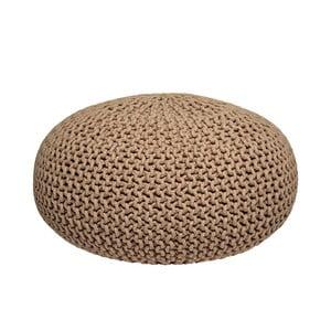 Béžový pletený puf LABEL51 Knitted XL, ⌀ 70 cm
