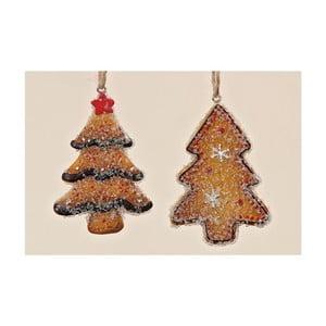 Sada 2 ks závesných dekorácií Christmas Tree