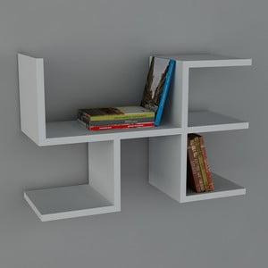 Polica Cool Book biela, 61,8x40x22 cm