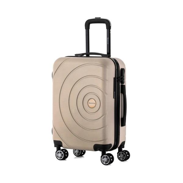 Béžový cestovný kufor Berenice Circle, 44 l