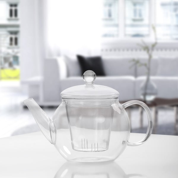 Sklenená čajová kanvica Bambum Petunia, 500 ml
