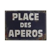Plechová ceduľa Antic Line Place Des Aperos