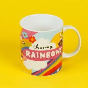 Keramický hrnček Happy News Chasing Rainbows, 400 ml