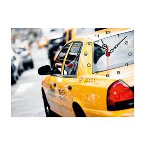 Obrazové hodiny Taxi, 60 x 60 cm