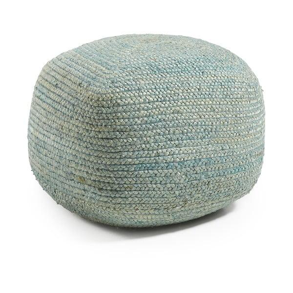 Jutový modrý sedací puf Dip
