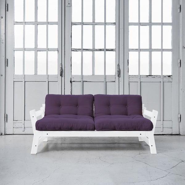 Rozkladacia pohovka Karup Step White/Purple