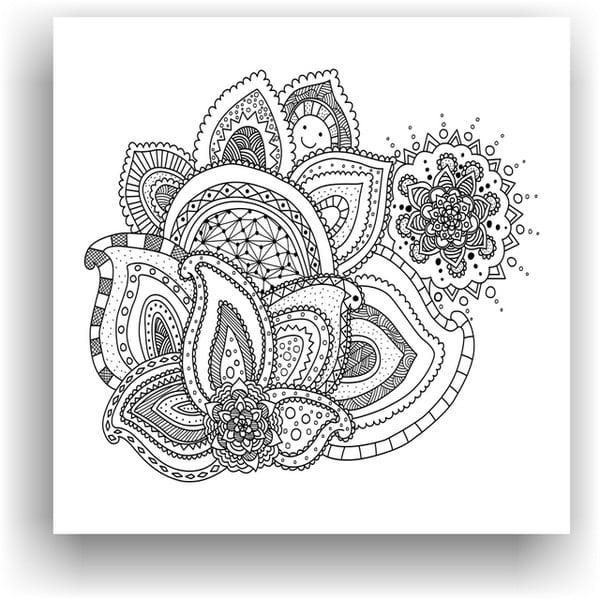Obraz na vymaľovanie Color It no. 40, 50x50 cm