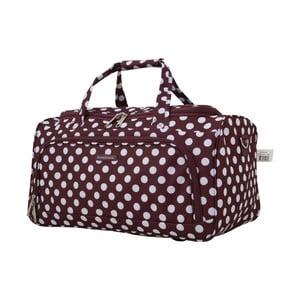 Fialová príručná batožina Travel World, 36 l
