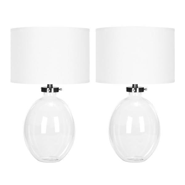 Sada 2 bielych stolových lámp Safavieh Alaina