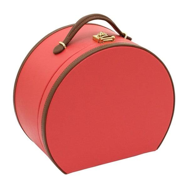Červená šperkovnica/kozmetický kufrík Friedrich Lederwaren Ascot