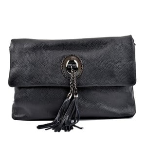 Čierna kožená kabelka Roberta M Reserva Takorra Nero