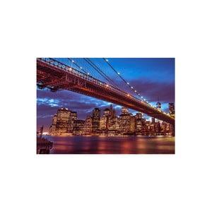 Obraz Brooklyn Bridge at Night, 80x115 cm