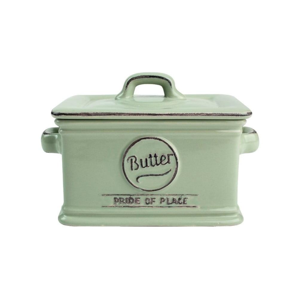 Zelená keramická nádoba na maslo T&G Woodware Pride of Place