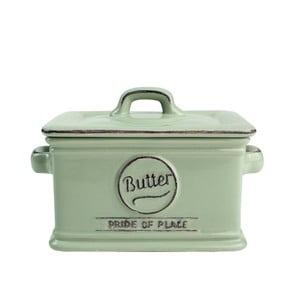 Zelená porcelánová nádoba na maslo T&G Woodware Pride of Place