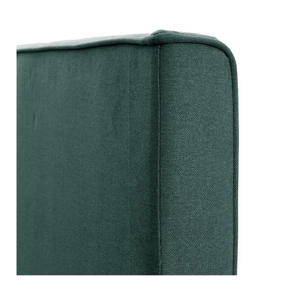 Zelenomodrá posteľ VIVONITA Kent 140x200cm, čierne nohy