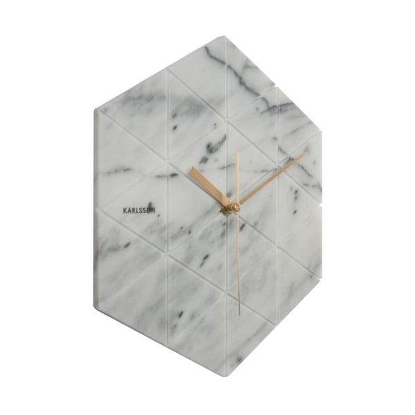 Biele nástenné hodiny Karlsson Hexagon