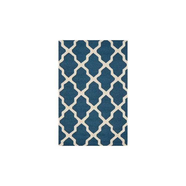 Vlnený koberec Ava Navy, 91x152 cm