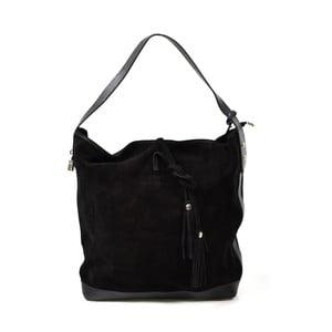 Kožená kabelka Stefie, čierna