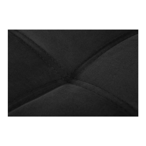 Čierna pohovka Modernist Crinoline, ľavý roh