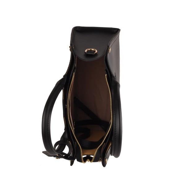Čierna kožená kabelka Florence Bags  Manor