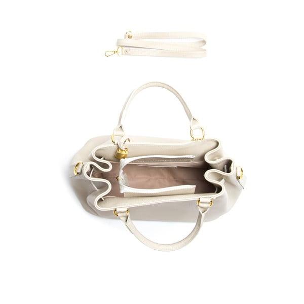 Kožená kabelka Isabella Rhea 183 Beige