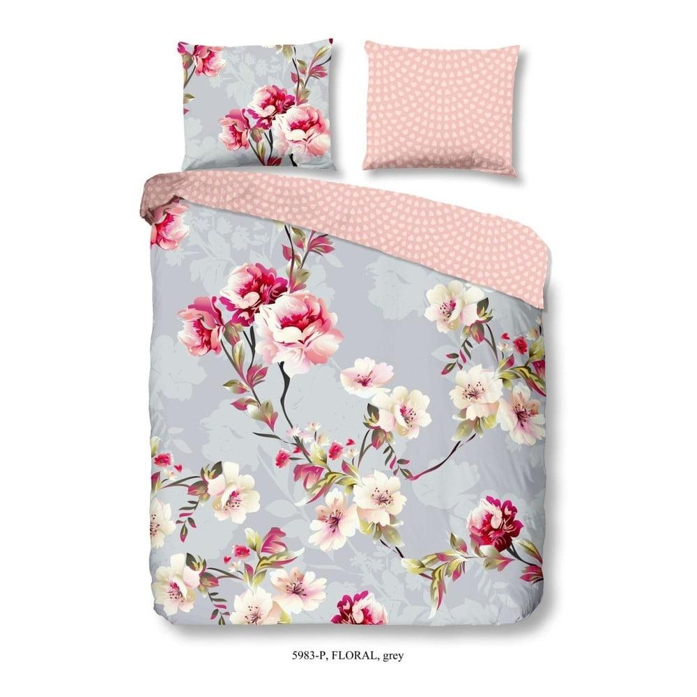 Bavlnené obliečky na dvojlôžko Good Morning Floral, 200 x 200 cm