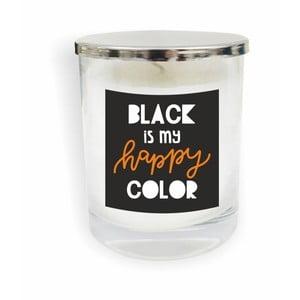 Biela sviečka North Carolina Scandinavian Home Decors Motto Glass Candle V11