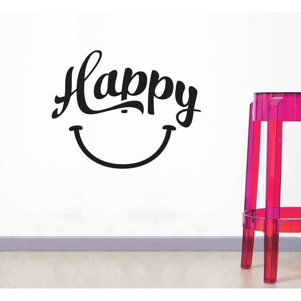 Dekoratívna nástenná samolepka Happy
