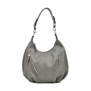 Sivá kožená kabelka Luisa Vannino Pamela