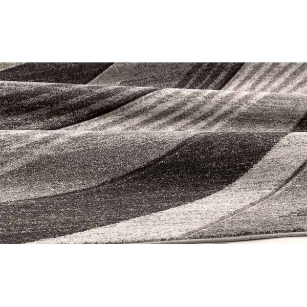 Sivý koberec Webtappeti Intarsio Wave, 160×230cm