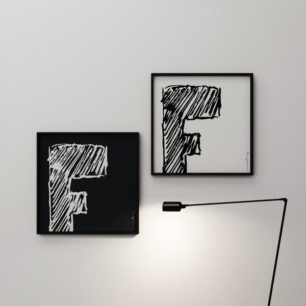 Plagát Litera F, 50x50 cm