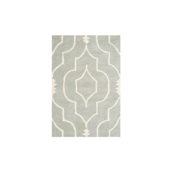 Vlnený koberec Morgan 91x152 cm, sivý