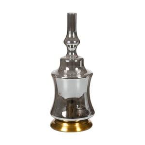 Sivá krištáľová stolová lampa Santiago Pons, výška 48 cm